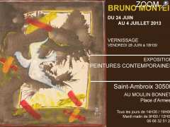 picture of BRUNO MONTEIL EXPOSITION PEINTURES CONTEMPORAINES SAINT-AMBROIX 30500